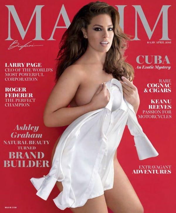 Modelka plus size na okładce Maxima