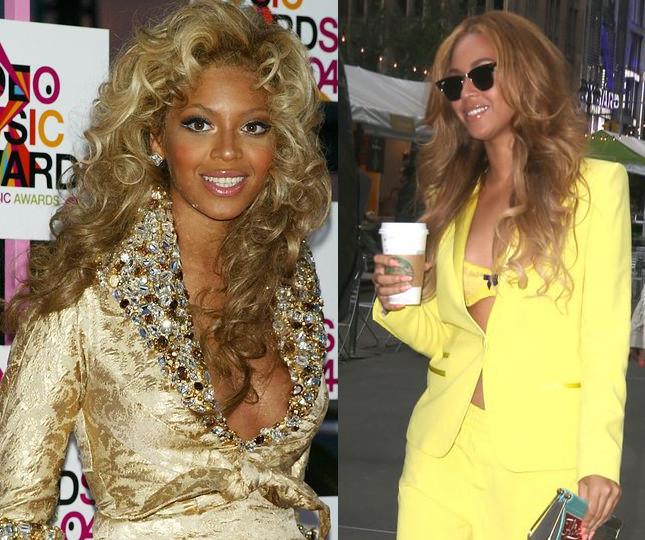 Beyonce na pocz�tku kariery i obecnie