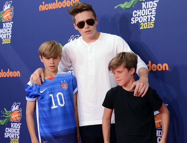 Brooklyn Beckham zabrał braci na Kid's Choice Sports Awards
