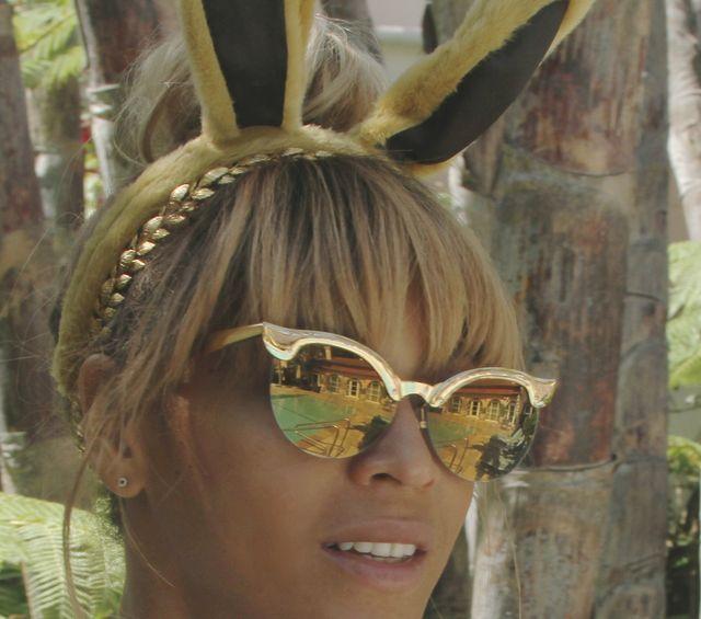 Wielkanocna Beyonce i jej kr�liczek, Blue Ivy (FOTO)