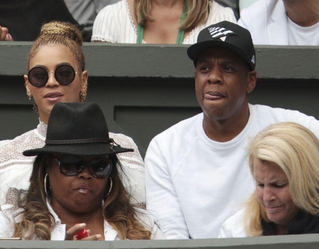 Beyonce wraz z Jayem Z udają na Wimbledonie zakochanych