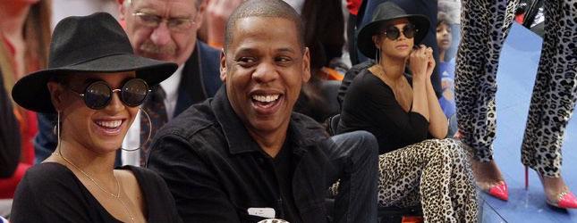 Beyonce i Jay-Z na meczu koszykówki (FOTO)