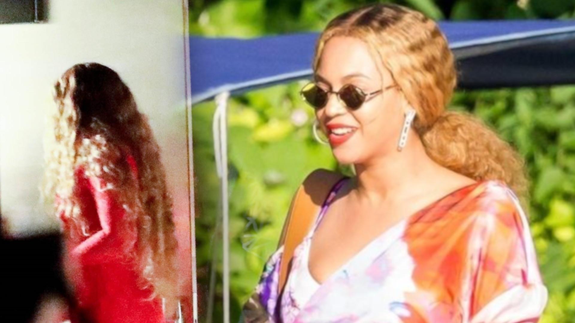 Beyonce na RANDCE w czerwonej, obcisłej miniówce (ZDJĘCIA)