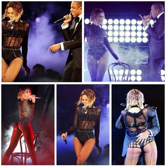 Beyonce odchudzała się przed występem na rozdaniu Grammy? beyonce jay z występ grammy 2014