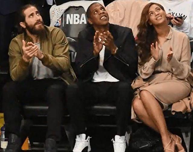 Beyonce z mężem na meczu koszykówki (FOTO)