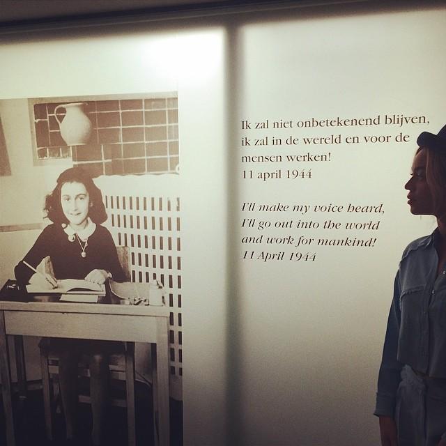 Kontrowersje wok� zdj�� Beyonce z muzeum Anne Frank