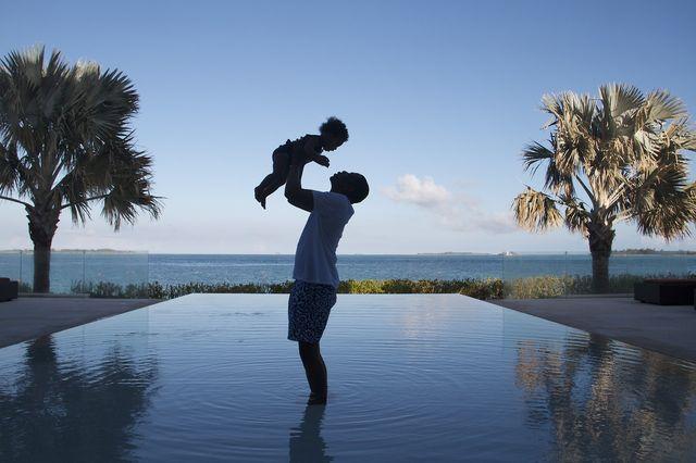 Blue Ivy uwielbia harce z tatą (FOTO)