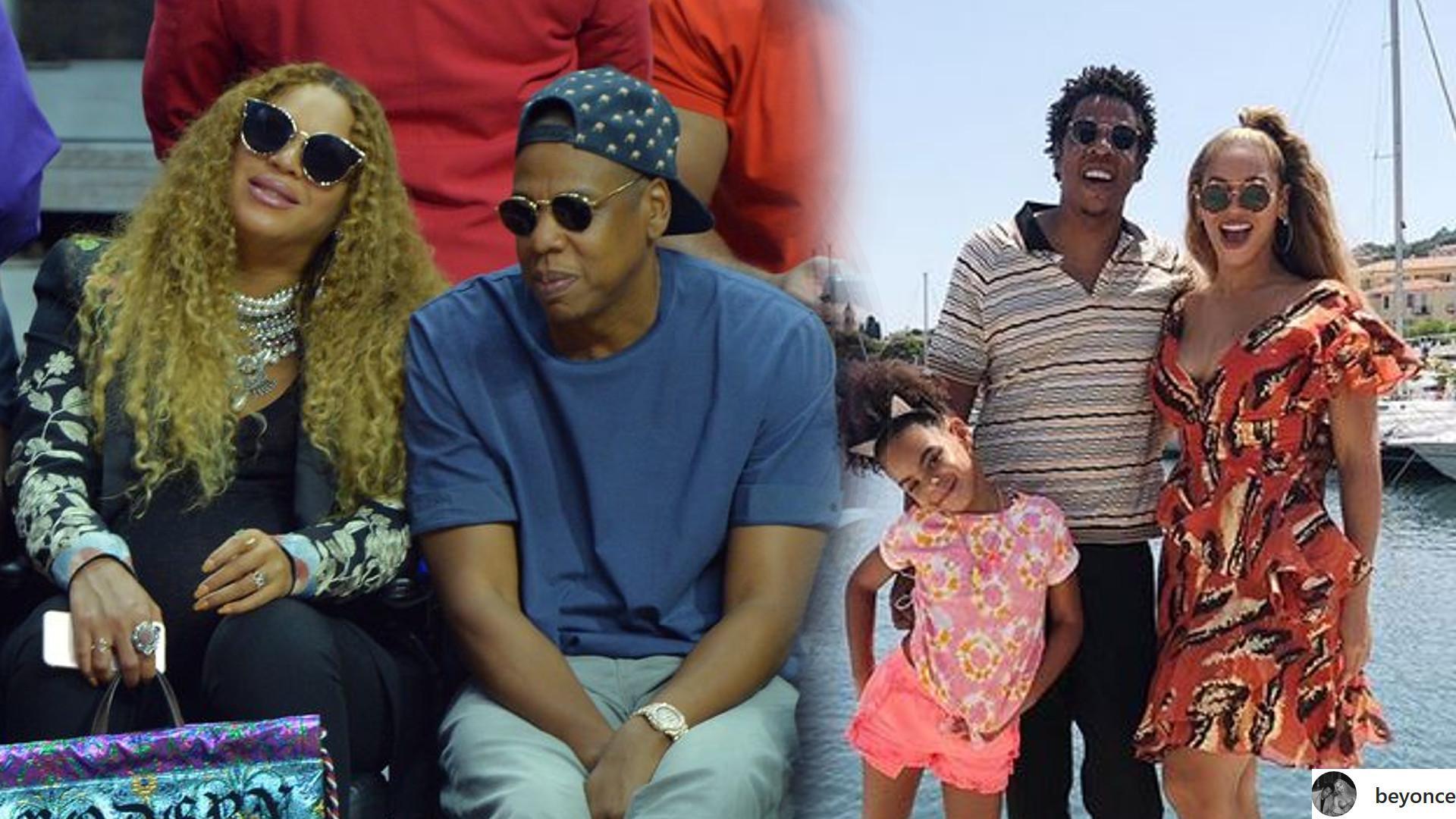 Beyonce i Jay-Z na wakacjach z Blue Ivy (Instagram)
