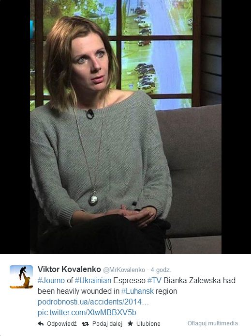 Szok! Polska dziennikarka ranna na wschodzie Ukrainy (VIDEO)