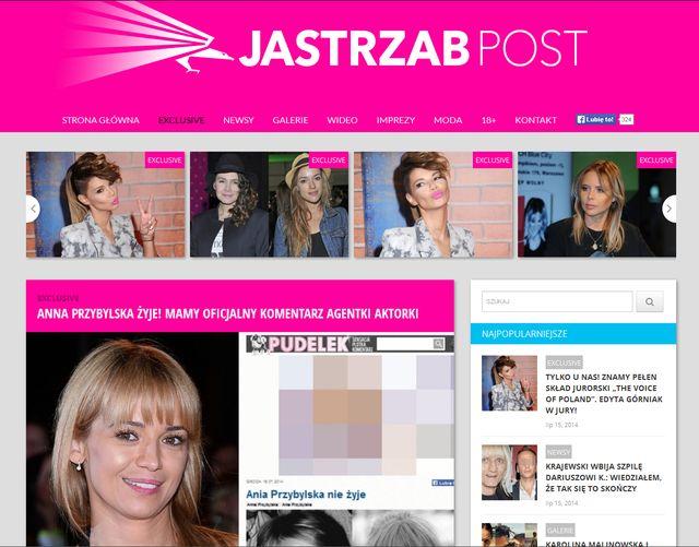 Straszna plotka o śmierci Anny Przybylskiej