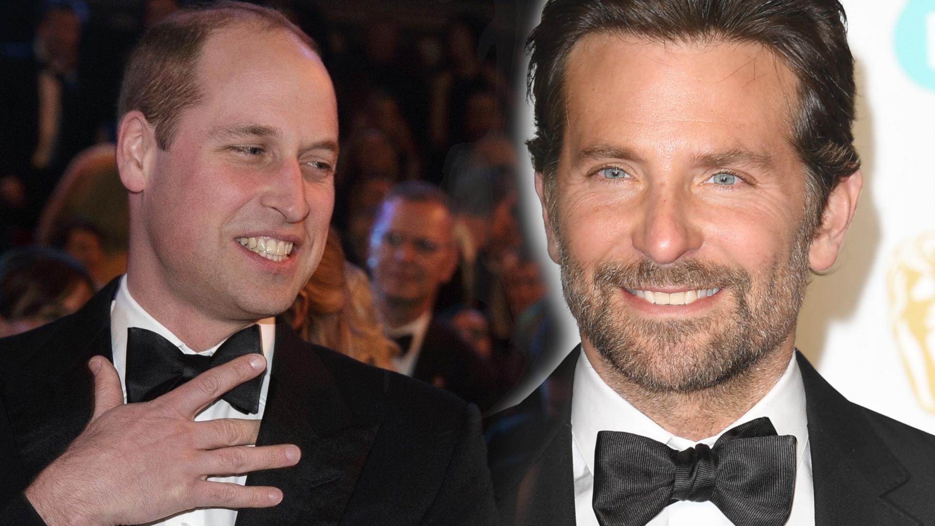 Bradley Cooper i książę William żartują razem na BAFTA 2019