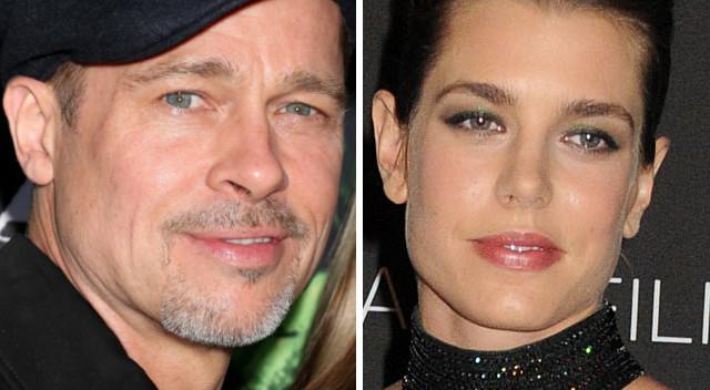 Brad Pitt zamienił Angie na księżniczkę Charlotte Casiraghi?