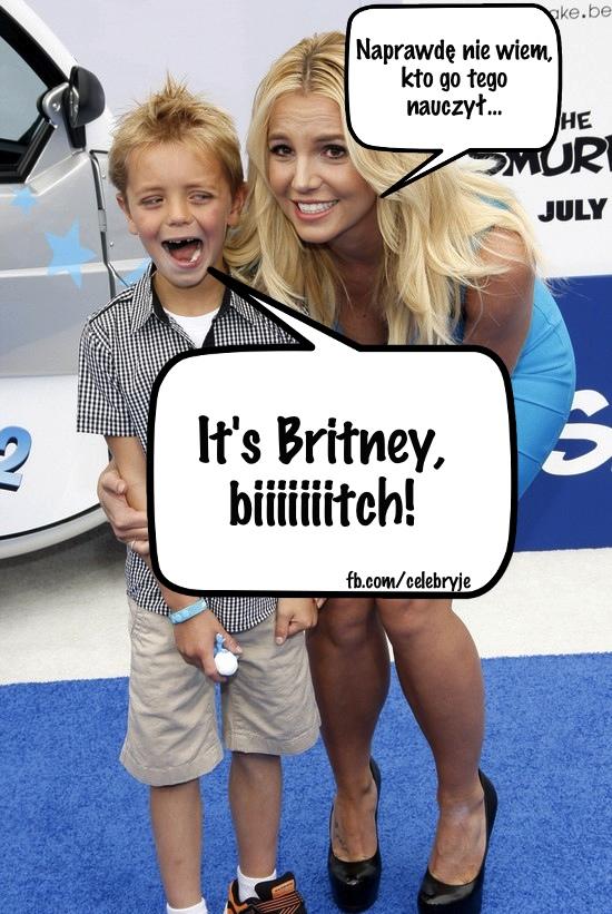 Britney Spears zabrała synów na premierę filmu Smerfy 2 FOTO