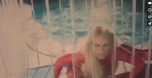 Britney Speras, klatka, bielizna BDSM, nadzy mężczyźni i wszechobecny SEKS