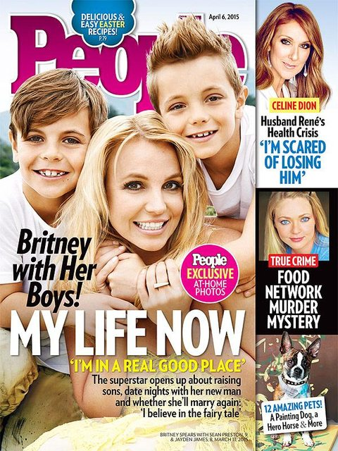 Britney Spears pokazała synów na okładce People