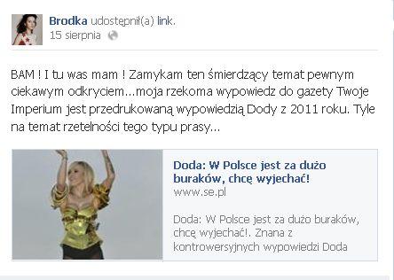 Monika Brodka: Niech się wali
