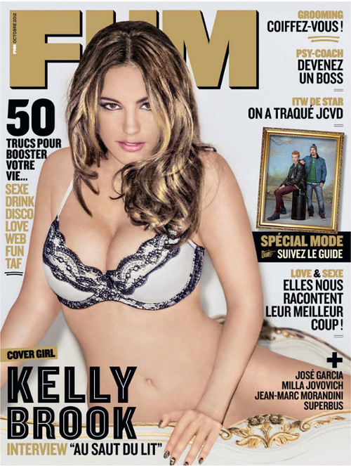 Kelly Brook oszpecona photoshopem we francuskim FHM