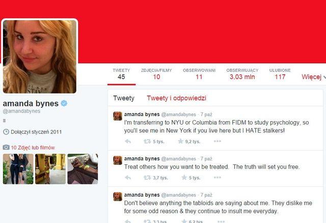 Amanda Bynes wróciła na Twittera