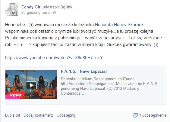 Candy Girl ostro skrytykowa�a Honey (VIDEO)
