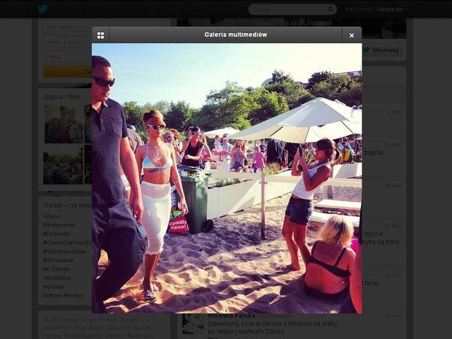 Rihannie nie podobało się na sopockiej plaży?