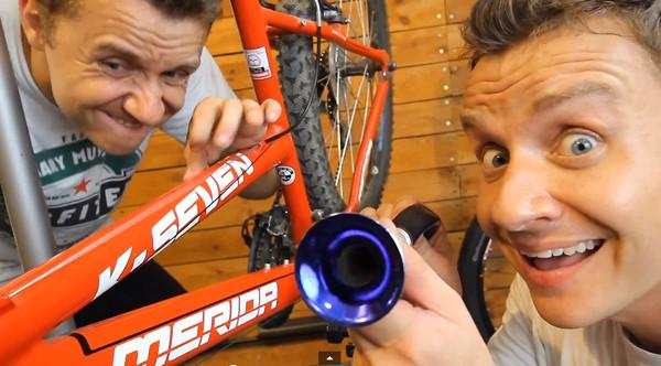 CeZik jedzie na rowerze... (VIDEO)