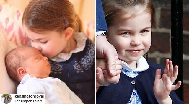 Tak zareagowała księżniczka Charlotte na narodziny księcia Louis'a