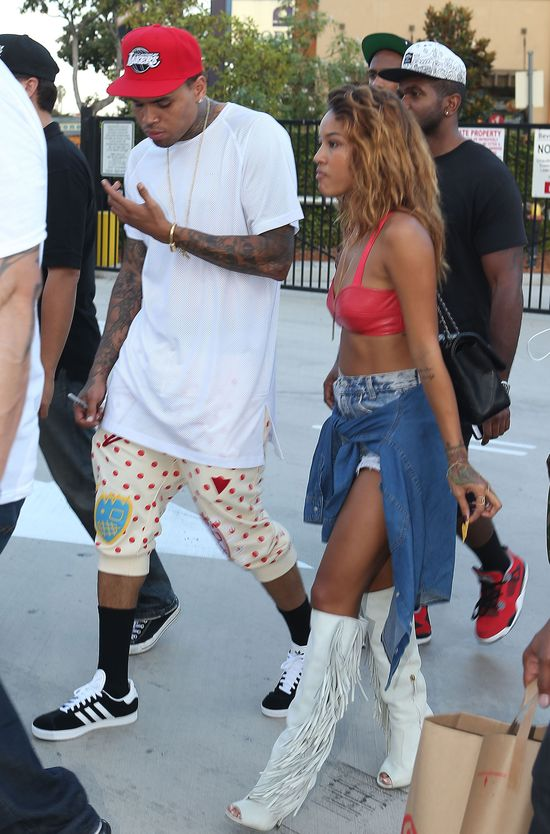 Chris Brown lubi rozebrane dziewczynki (FOTO)