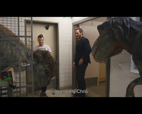 Dinozaur Wardęgi zaatakował aktora Jurrasic Park [VIDEO]
