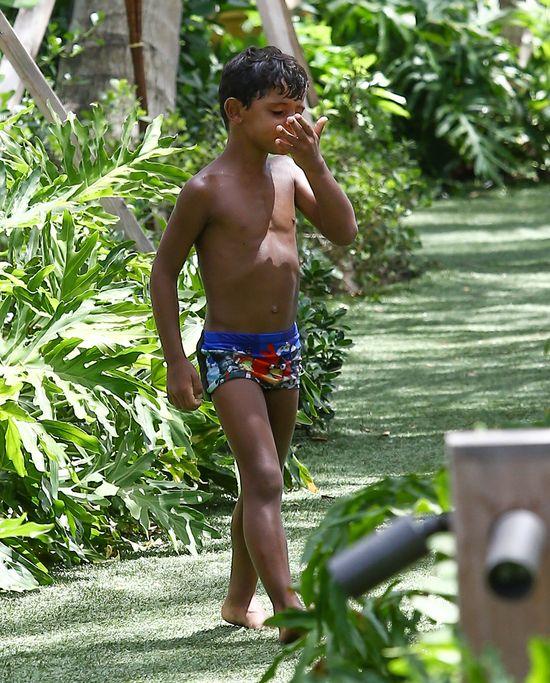 Christiano Ronaldo wolny czas spędza z synkiem (FOTO)