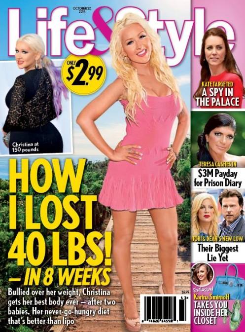 Christina Aguilera już schudła (FOTO)
