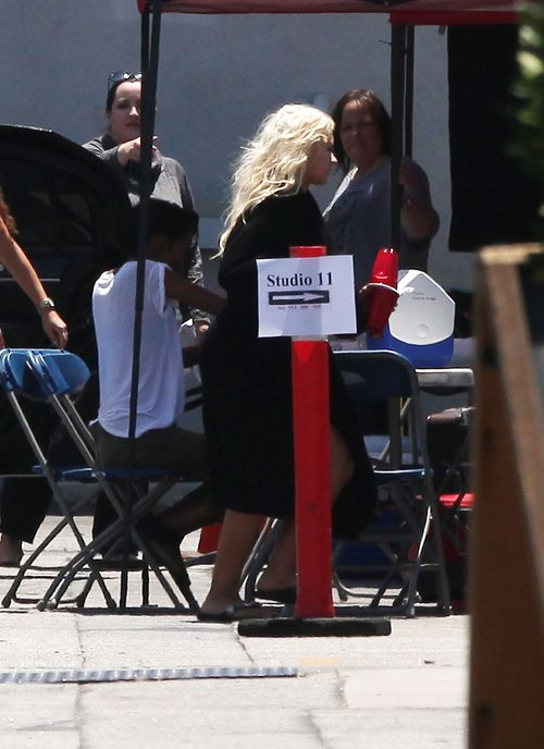 Christina Aguilera idzie do pracy bez makijażu (FOTO)