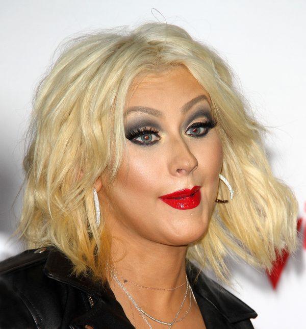 Christna Aguilera upiła się na świątecznym party