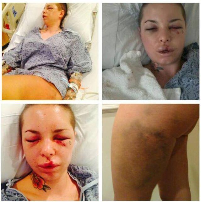 Brutalnie pobita Christy Mack wróciła na salony (FOTO)
