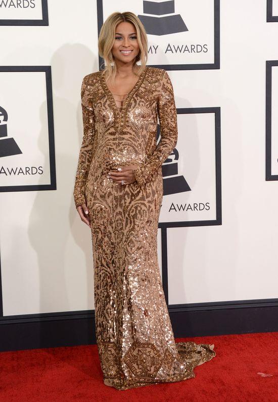 Ciara na Grammy 2014 wyeksponowała brzuszek i... (FOTO) Ciara z brzuszkiem