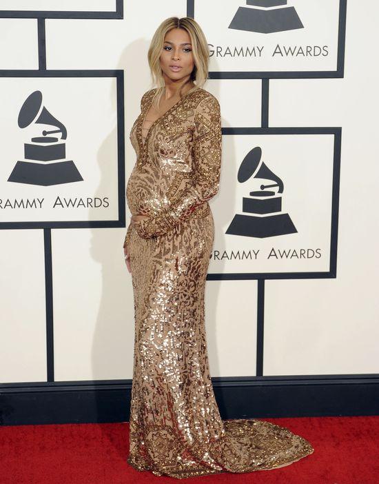 Ciara na Grammy 2014 wyeksponowała brzuszek i... (FOTO) Ciara w ciąży