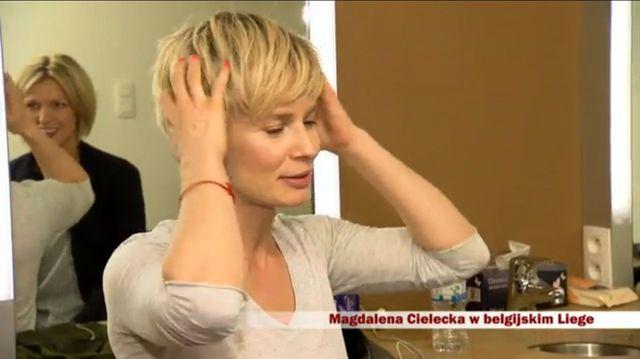 Magda Cielecka w krótkich włosach (VIDEO)