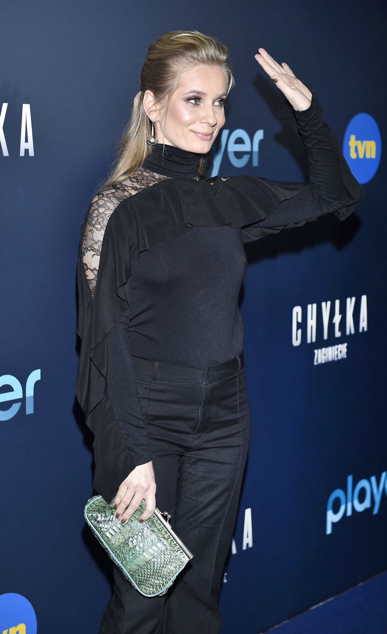 Magdalena Cielecka pokazała KLASĘ na premierze serialu TVN