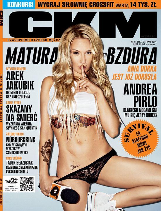 Ania Durka z Matura to bzdura rozebrała się dla CKM-u