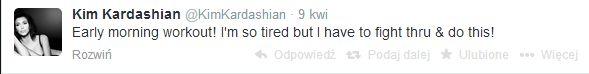 Kim Kardashian jest przemęczona?!