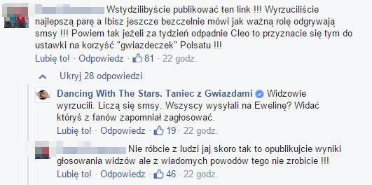 Awantura na FB Tańca z gwiazdami (Facebook)