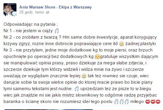 Ania z Warsaw Shore nieźle się wkurzyła