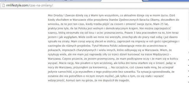 Rafał Maślak miał groźny wypadek!