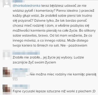 Fani do Honey: Zrobiłaś sobie piersi! (Instagram)