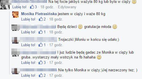 Monika Pietrasińska: Jestem w ciąży i ważę 80kg (FB)