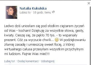 Widzieliście już pierwszą samoje*kę Natalii Kukulskiej? FOTO