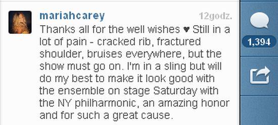Mariah Carey zamieściła video ze szpitala (VIDEO)