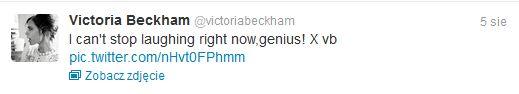 Victoria Beckham nie może powstrzymać się od śmiechu