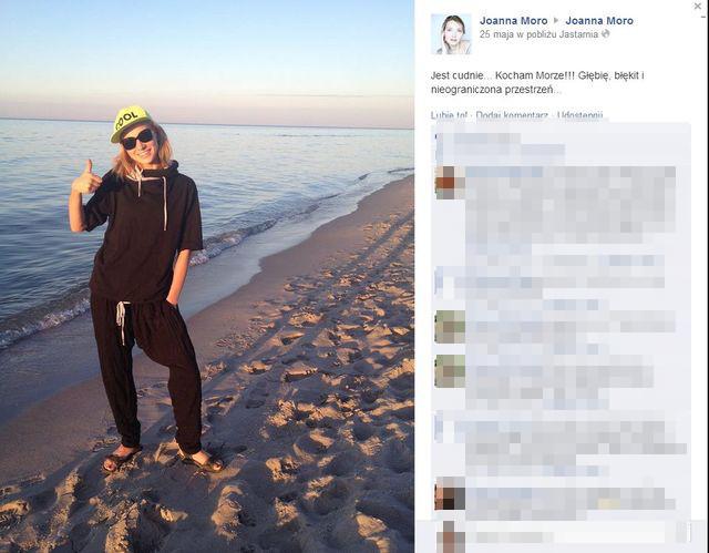 Joanna Moro bez makijażu podczas urlopu (FOTO)