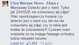 Eliza z Warsaw Shore pokazała, jak modli się w Licheniu (FB)