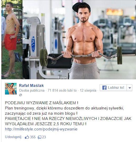Jak wygląda dieta Rafała Maślaka? (FOTO)